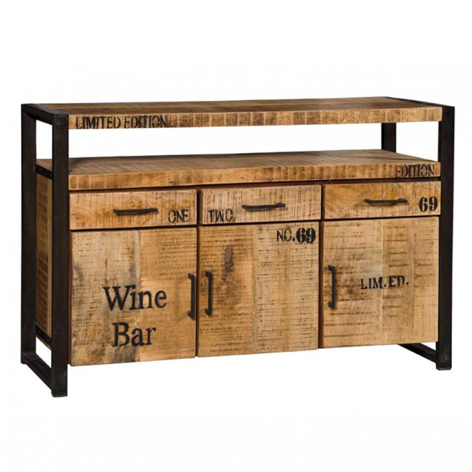 Credenza industrial wine buffet e credenze stile for Mobili buffet bassi