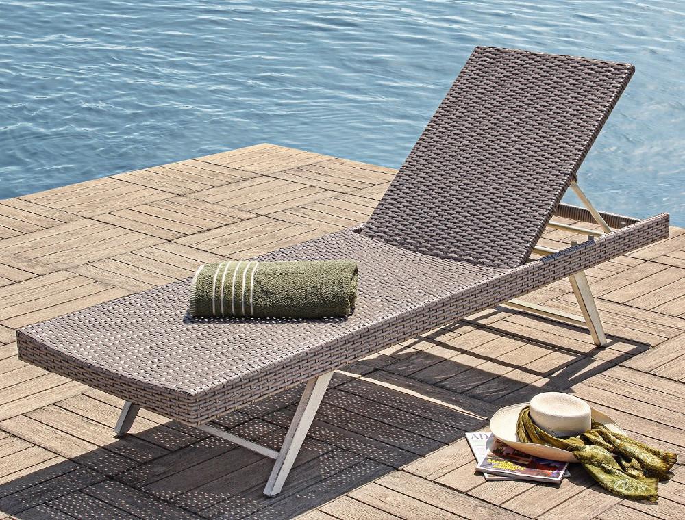 Lettino relax reclinabile mobili etnici provenzali giardino - Lettino giardino ...