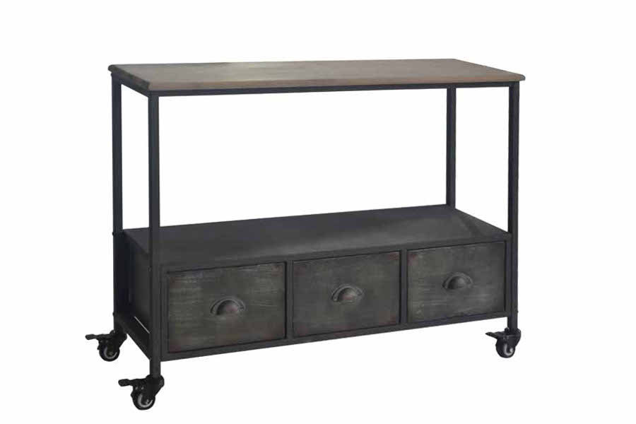 Tavolo consolle vintage base ferro mobili vendita online for Consolle metallo
