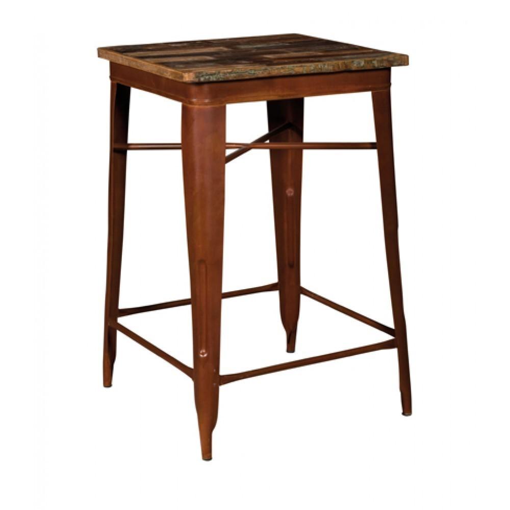 Tavolo bar stile industriale marrone etnico outlet mobili for Bar stile industriale