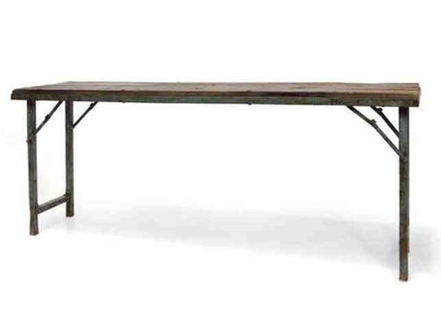 Tavolo consolle vintage base ferro mobili vendita online - Tavolo consolle pieghevole ...