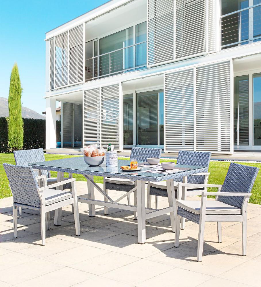 Tavolo rettangolare da giardino mobili etnici provenzali for Outlet mobili da giardino
