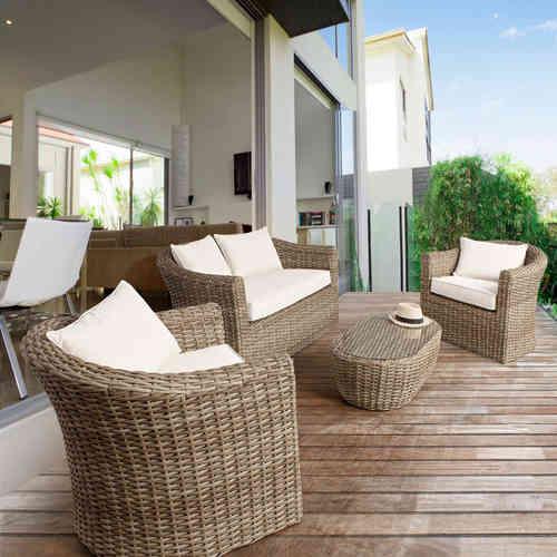 Salotti completi polyrattan prezzi e sconti online outlet for Completi da giardino
