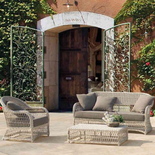 Salotti completi polyrattan prezzi e sconti online outlet for Outlet giardino