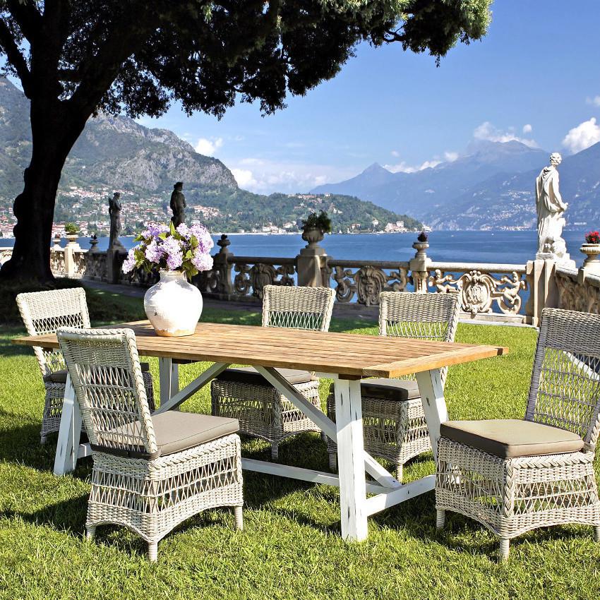 Set tavolo e poltrone per esterno for Poltrone per giardino