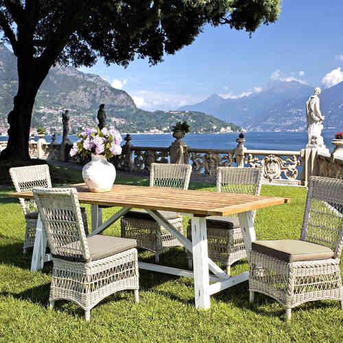 Set tavoli e sedie polyrattan offerte sconti 70 su etnico for Offerte poltrone da giardino