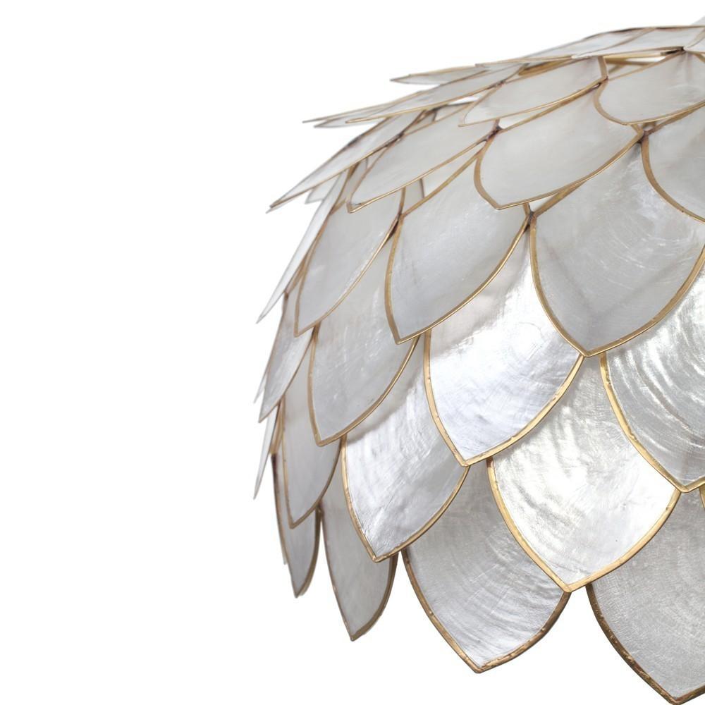lampadario madreperla : Lampadario foglie madreperla - Etnico Outlet mobili etnici