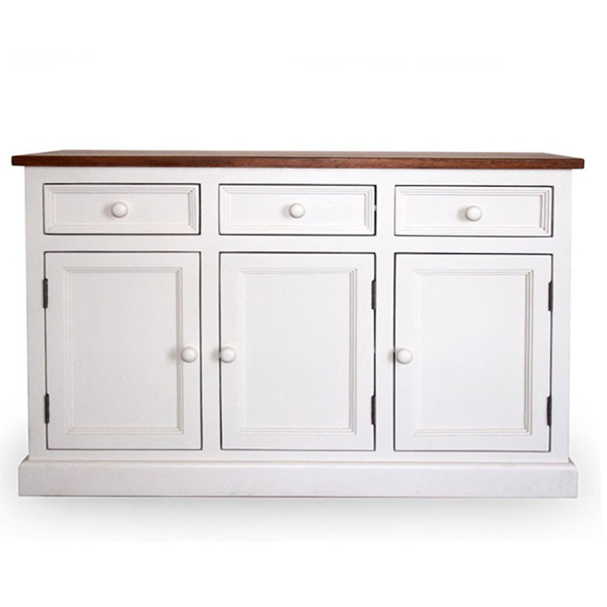 Buffet legno bianco shabby mobili provenzali online - Credenza ikea bianca ...
