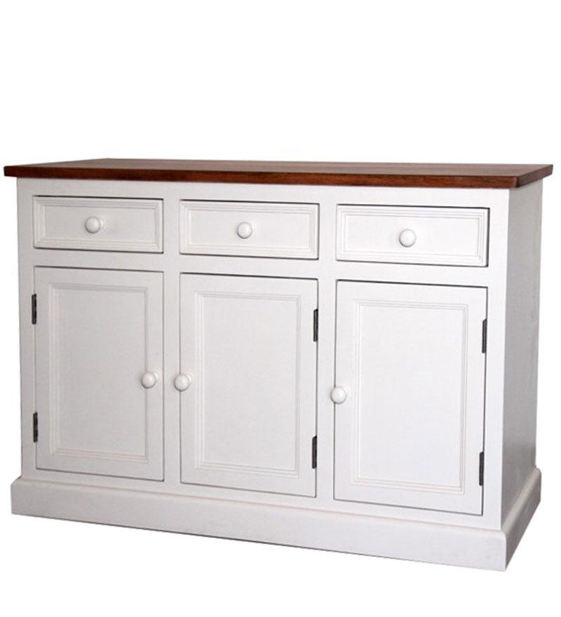 Buffet legno bianco shabby mobili provenzali online for Credenza shabby chic online