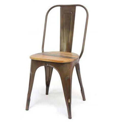 Sedia vintage ferro e legno sedie stile industriale for Sedie in ferro e legno