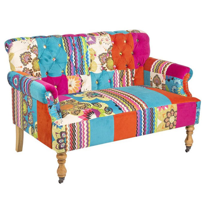divano multicolor patchwork divani stile vintage