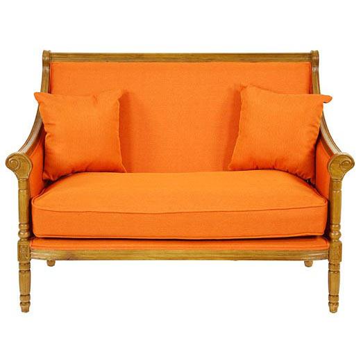 Divano francese arancione divani francesi - Divano arancione ...