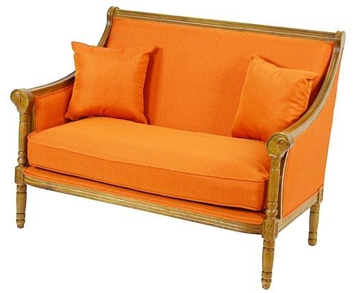 Divano francese arancione divani francesi for Divano in francese