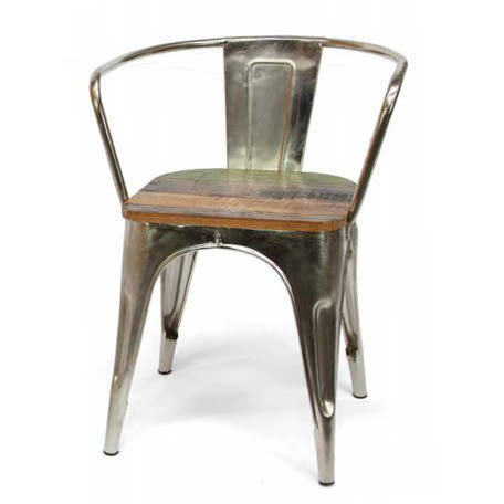 Poltroncina vintage ferro e legno Sedie vintage