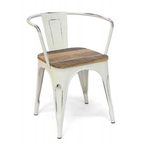 Poltroncina vintage ferro e legno sedie vintage for Sedie in ferro e legno