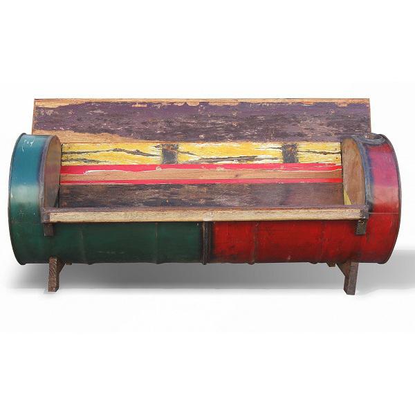 Divano vintage bidone e legno Mobili etnici vendita online