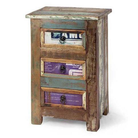 Mobiletto vintage multicolor mobili industrial - Mobiletti in legno ...