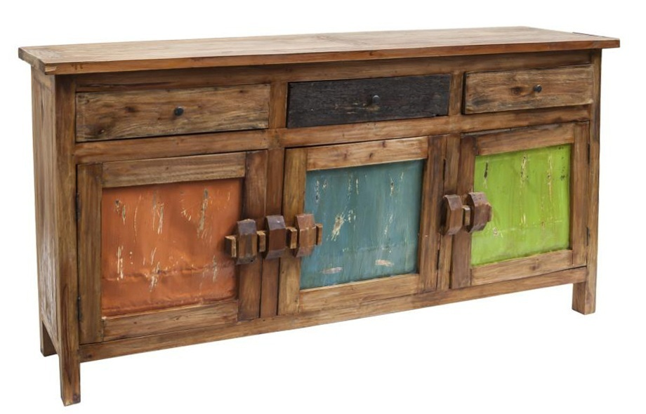 Credenza etnica legno riciclato credenze etniche for Maison du monde credenze