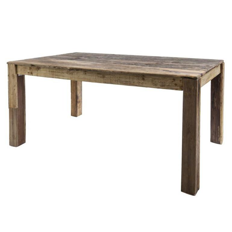 Tavolo rustico teak riciclato tavoli etnici online - Tavolo legno riciclato ...