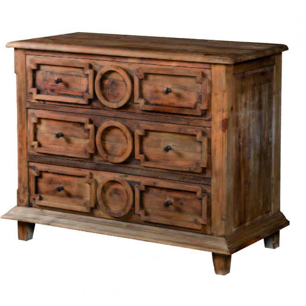 Cassettiera etnica legno di olmo - Etnico Outlet cassettiere