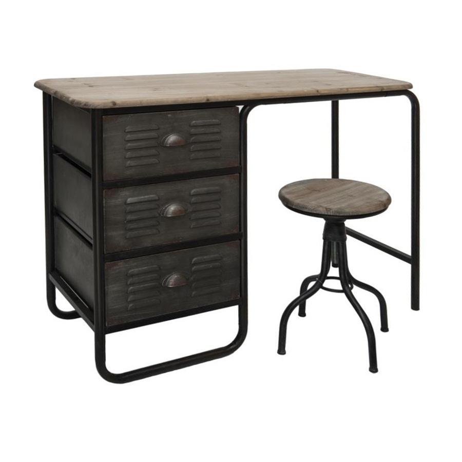 Scrivania industrial vintage base ferro mobili vendita online - Mobili in ferro vintage ...