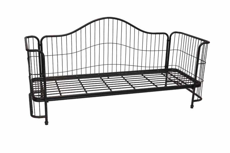 Divano letto industrial nero base ferro mobili vendita online for Divano letto nero