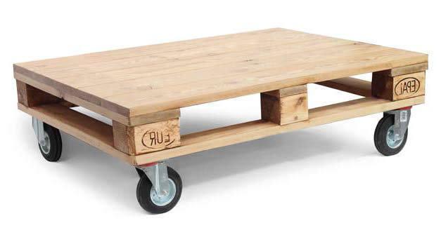 Tavolino bancale con ruote etnico outlet mobili industrial - Costruire tavolino ...