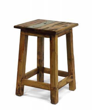 Panchetto in legno riciclato mobili etnici vendita online for Vendita legno online