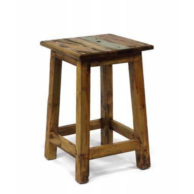 Panchetto in legno riciclato mobili etnici vendita online for Outlet mobili online vendita