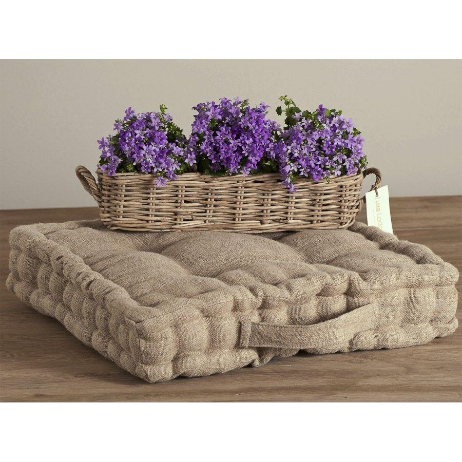 Cuscino provenzale in lino cuscini per sedie for Cuscini shabby per divani
