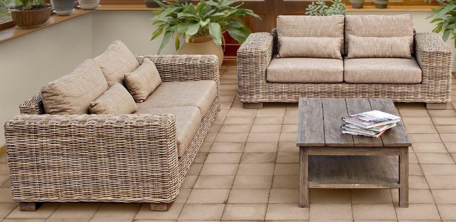 divano rattan naturale 3 posti mobili etnici provenzali