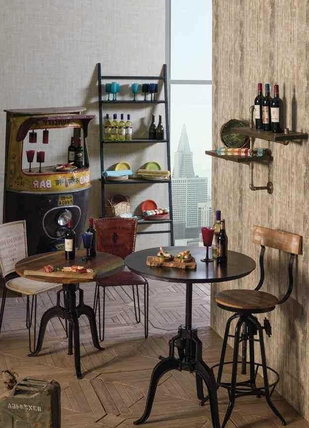 Tavolo tondo industrial mobili stile industrial vendita online for Tavolo tondo alto