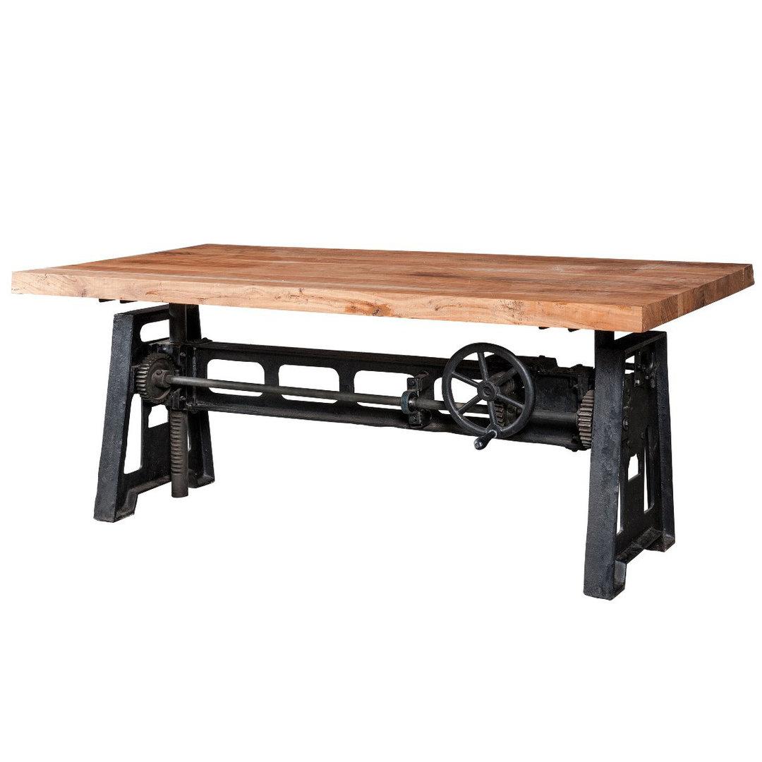 Tavolo industrial piano regolabile mobili vendita online - Piano tavolo legno ...