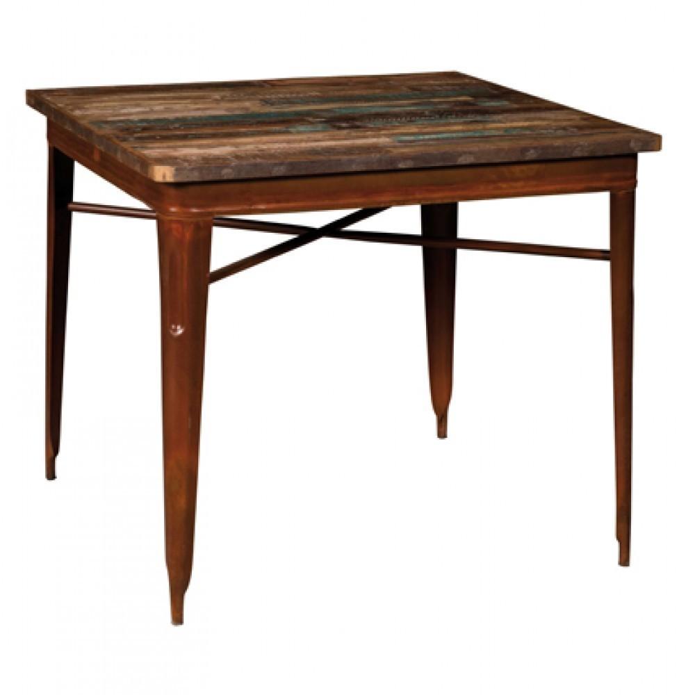 Tavolo legno e ferro marrone - Etnico Otulet tavoli sedie vintage