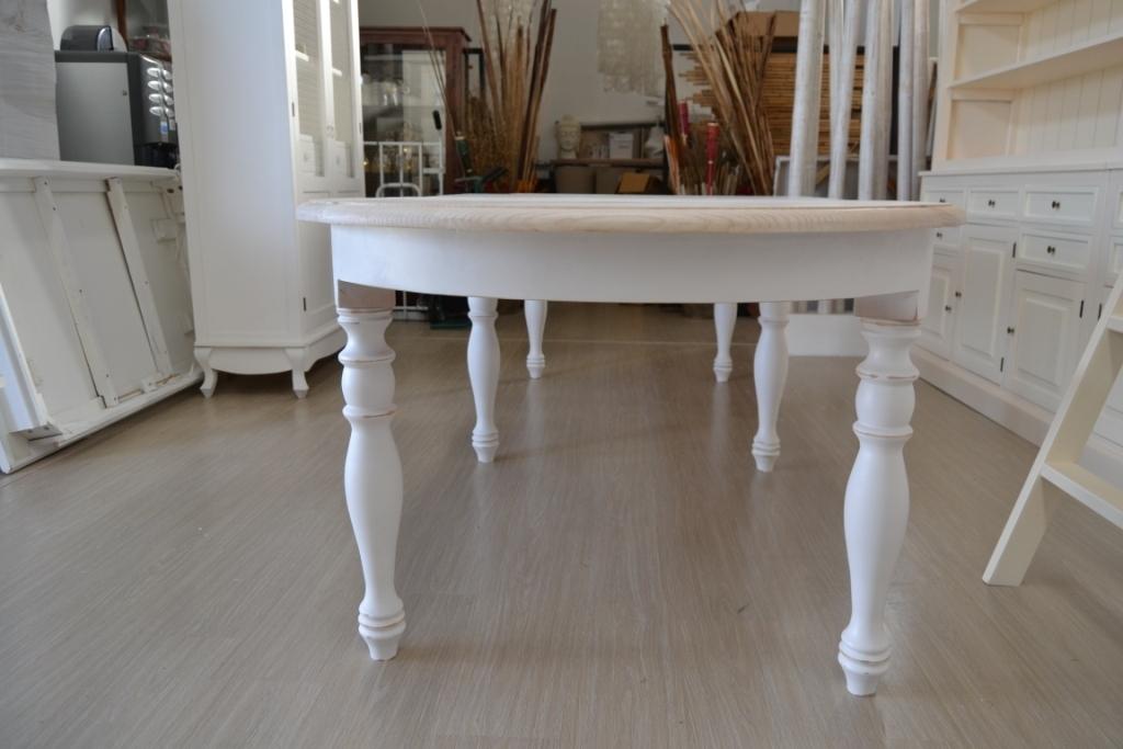Tavolo ovale bianco shabby chic allungabile mobili etnici for Tavolo ovale bianco design