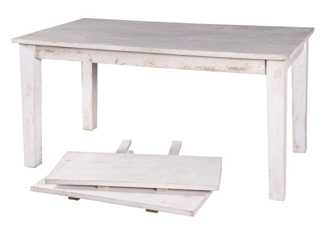 Tavolo bianco shabby legno etnico outlet mobili shabby in offerta - Mobili bianchi shabby ...