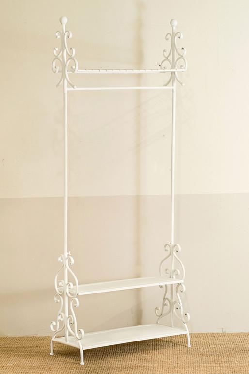 Appendiabiti da terra ferro bianco mobili ferro battuto online for Mensole in ferro battuto