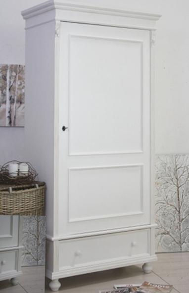 Armadio legno bianco 1 anta armadi shabby chic online for Armadio bagno bianco