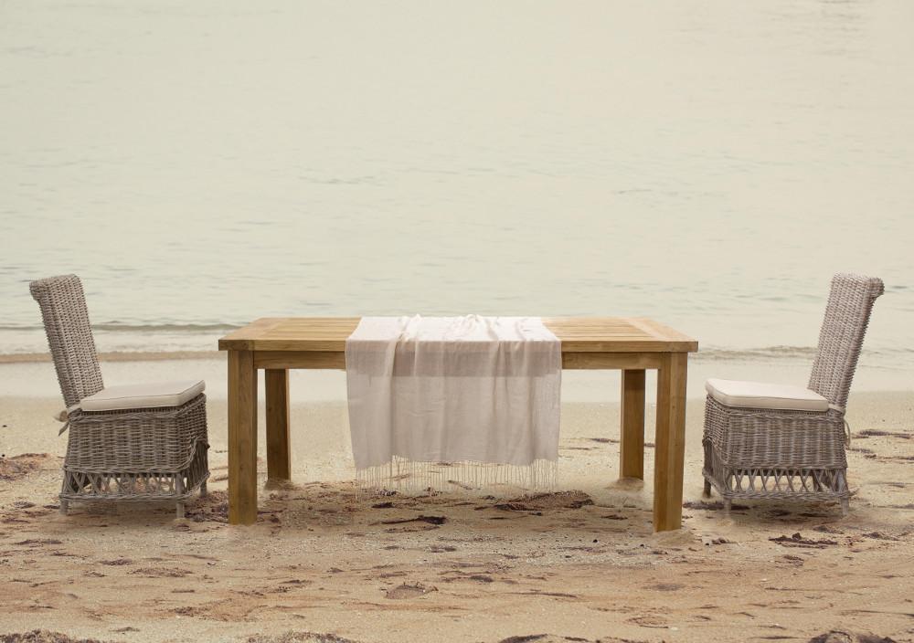 Tavolo pranzo legno rustico etnico outlet mobili legno teak for Tavolo rustico legno