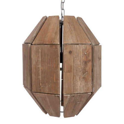 Lampadario etnico legno