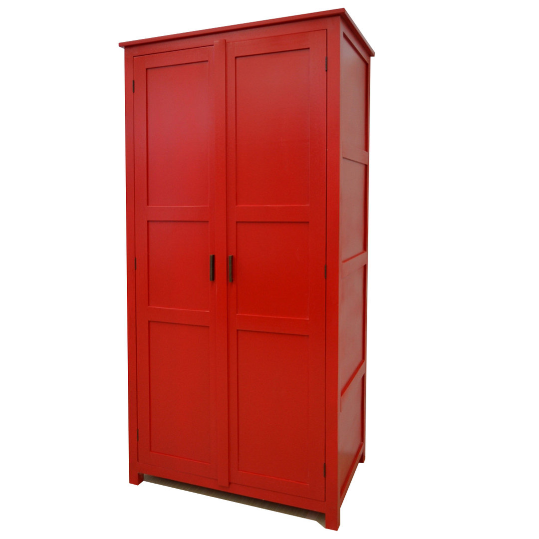 Armadio etnico rosso armadi in legno colorati online for Comprare armadio online