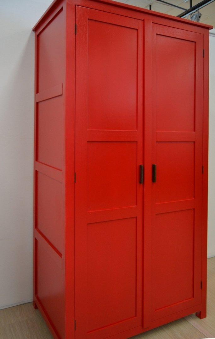 Armadio etnico rosso - Armadi in legno colorati online