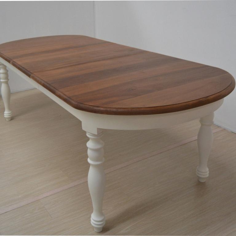 Tavolo ovale bianco provenzale tavoli bianchi legno for Tavolo consolle allungabile legno massello