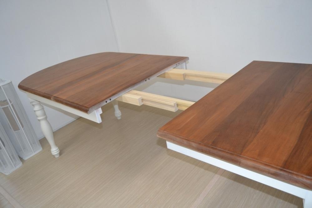 Tavolo ovale bianco provenzale - Tavoli provenzali allungabili