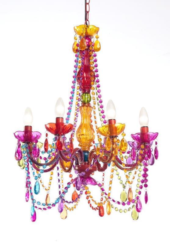 Lampadario multicolor barocco Lampadari provenzali barocchi