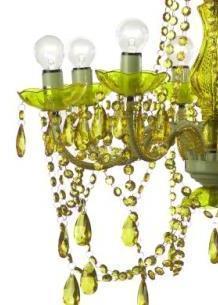 lampadario stile barocco : Lampadario verde stile barocco