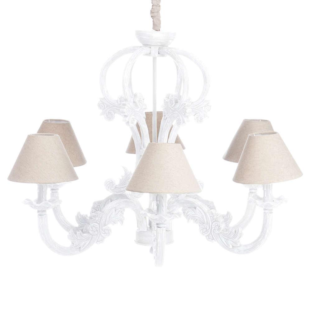 Eccezionale Lampadario legno bianco Lampadari e luci shabby chic ML22