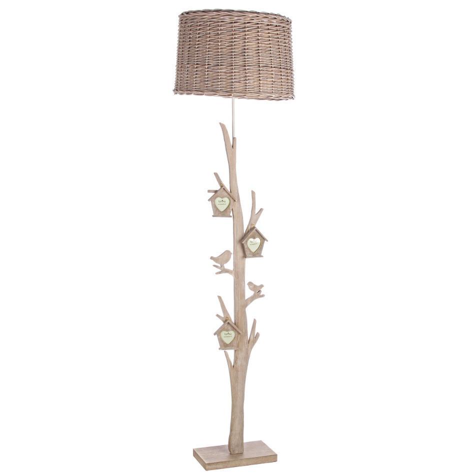 Piantana provenzale legno lampade e luci provenzali online for Lampade stile country
