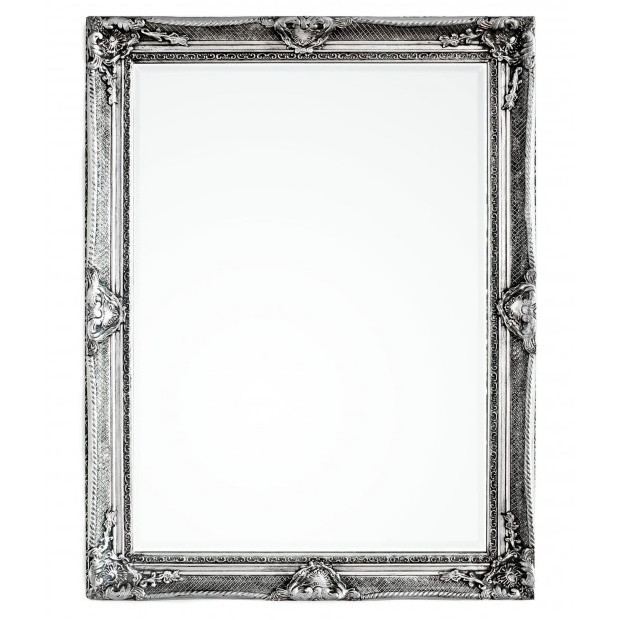 Specchio argento shabby chic etnico outlet mobili etnici - Specchio ovale shabby chic ...