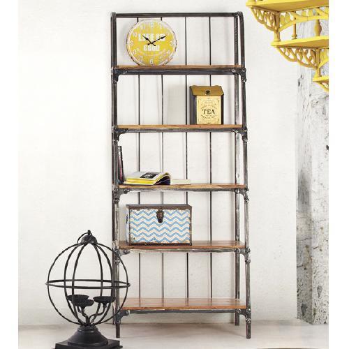 Libreria vintage legno e ferro arredamento mobili vintage online